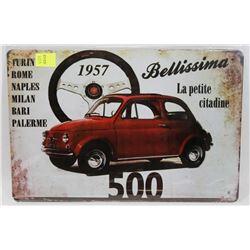 """NEW 12"""" X 8"""" 1957 FIAT 500 METAL SIGN"""