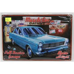 """NEW 12"""" X 8"""" MUSCLE CAR GARAGE METAL SIGN"""