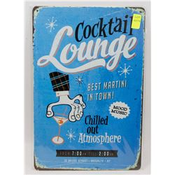 """NEW 12"""" X 8"""" COCKTAIL LOUNGE METAL SIGN"""