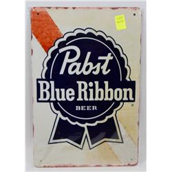 """NEW 12"""" X 8"""" PABST BLUE RIBBON BEER METAL SIGN"""