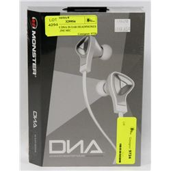 MONSTER DNA IN EAR HEADPHONES WITH IN LINE MIC