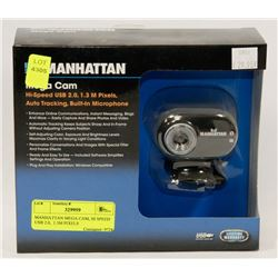 MANHATTAN MEGA CAM, HI SPEED USB 2.0,  1.3M PIXELS
