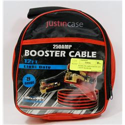 JUSTINCASE 250 AMP 6 GAUGE 12FT LIGHT DUTY BOOSTER