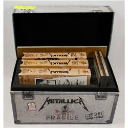 METALLICA COLLECTORS BOX WITH VHS.