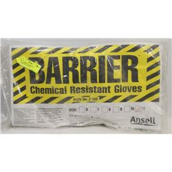 NEW BARRIER CHEMICAL RESISTANT GLOVES.
