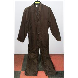 NEW SIZE 40R MARV HOLLAND BROWN COVERALLS