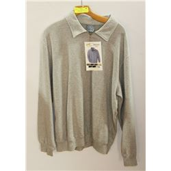 NEW SIZE L VINTAGE ASH CITY 1/4 ZIP GREY SWEATER.
