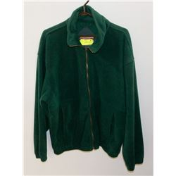 NEW SIZE L GREEN FULL ZIP FLEECE