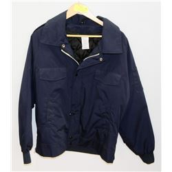 NEW SIZE M HEAVY DUTY BLUE WORK JACKET WITH ZIP OU