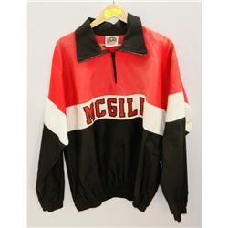 MCGILL UNIVERSITY SIZE XL BARBARIAN RUBY JACKET.