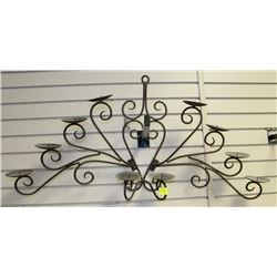 LARGE WROUGHT IRON CANDLE HOLDER
