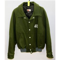 NEW SIZE 46 GREEN BOMBER JACKET.