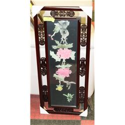 3D GLASS ORIENTAL STYLE FRAMED PICTURE