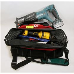 BAG OF TOOLS, NO BATTERIES OR CHARGERS
