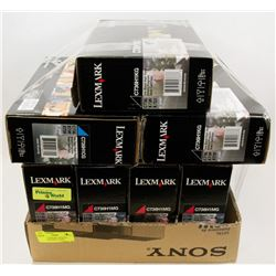 LOT OF 7 LEXMARK ASSORTED COLOR HIGH YIELD  TONER