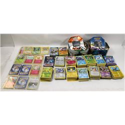 LARGE FLAT OF POKÉMON CARDS