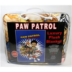 "NEW! ""PAW PATROL"" LUXURY PLUSH BLANKET (TWIN)"