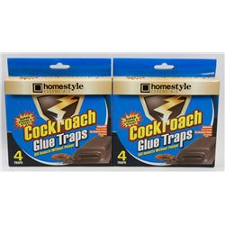 TWO NEW PACKS OF COCK ROACH TRAPS
