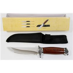"""NEW 10"""" HUNTING KNIFE WITH SHEATH"""