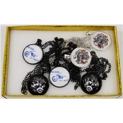BOX OF 6 MOTORCYCLE NECKLACES