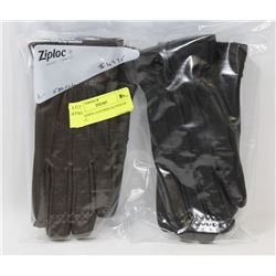 2PK LADIES LEATHER GLOVES SZ SMALL