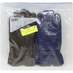 2PK LADIES LEATHER GLOVES SZ X-LARGE