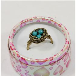 LOVE NEST TURQUOISE RING
