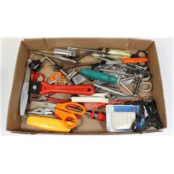 FLAT OF ASSORTED  TOOLS