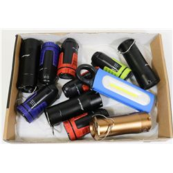 LOT OF EDDIE BAUER MULTIFUNCTION FLASHLIGHTS