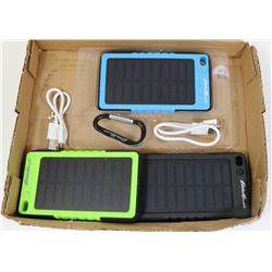 LOT OF 3 EDDIE BAUER SOLAR POWER BANKS 6000MAH