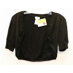 NEW BLACK ARIANNE HALF SWEATER SIZE SMALL