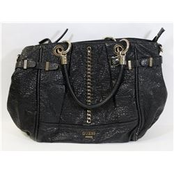 AUTHENTIC BLACK LEATHER GUESS PURSE -