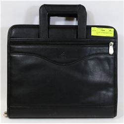 NEW BLACK LEATHER BRIEF CASE - GENERAL,