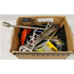 BOX OF ASSORTED TOOLS