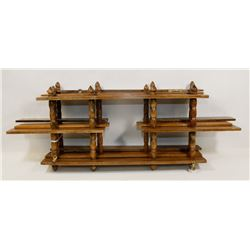 SET OF THREE WOOD WALL UNITS