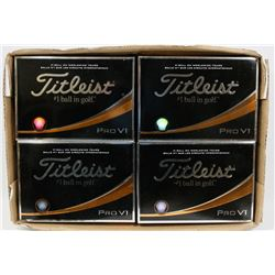 FLAT OF TITLEIST PRO V1 RECLAIMED GOLF BALLS.