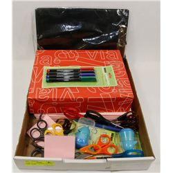 FLAT OF OFFICE/SCHOOL SUPPLIES INCL PAPER,