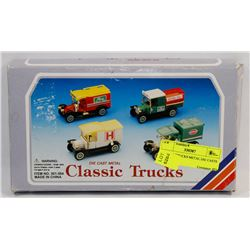 CLASSIC TRUCKS METAL DIE CASTS IN BOX.