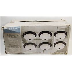 "UNOPENED 6 PACK OF 10"" CEILING FIXTURES."