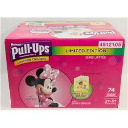 CASE OF 74 HUGGIES PULL-UPS DIAPERS