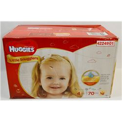 CASE OF 70 HUGGIES LITTLE SNUGGLERS DIAPERS