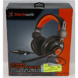 BLACKWEB STEREO GAMING HEADSET WITH