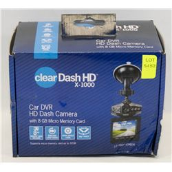 CLEAR DASH HD 1080P DASH CAMERA W/ 8GB