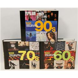 3 COFFEE TABLE BOOKS -CLASSIC ROCK OF THE 60'S,