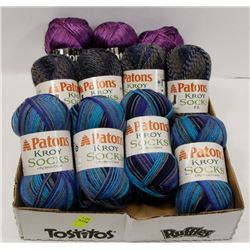 FLAT OF ASSORTED PATONS YARN