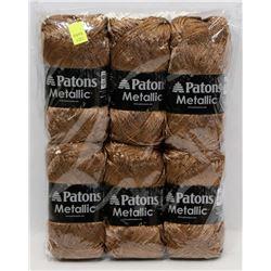 BUNDLE OF 6 BALLS OF PATONS METALLIC YARN
