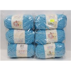 BUNDLE OF 6 BALLS OF BERNAT YARN
