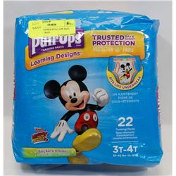 BAG OF HUGGIES PULL UPS SIZE 3T-4T. 22 IN BAG.