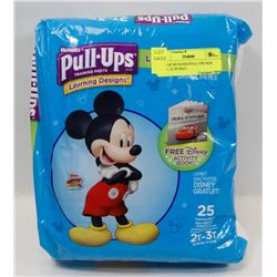 BAG OF HUGGIES PULL UPS SIZE 2T-3T. 25 IN BAG.