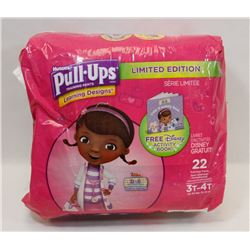 BAG OF HUGGIES PULL-UPS SIZE 3T-4T 22 IN BAG.